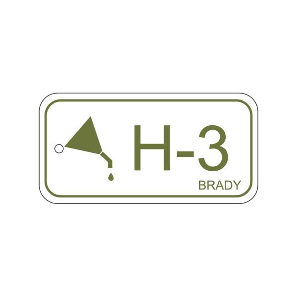 BRADY Anhänger für Energiequellen–Hydraulik ENERGY TAG-H-3-75X38MM-PP/25 138412