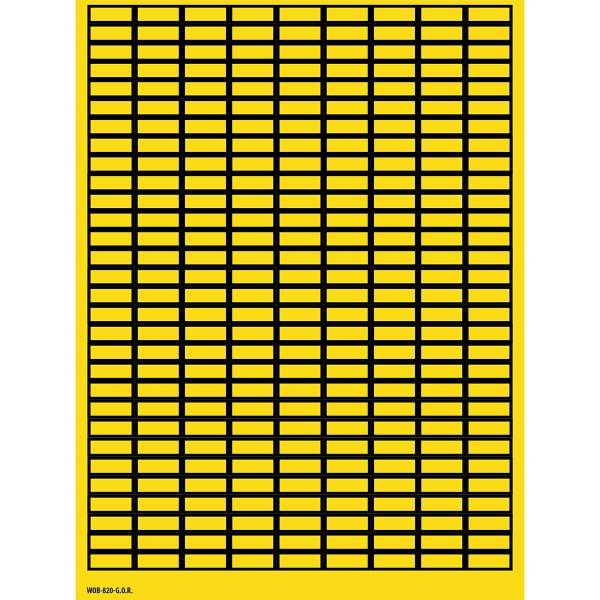 BRADY Beschriftbare Etiketten auf Bögen - 8 x 20 mm - B-500 WOB-820-G.O.R. 101803