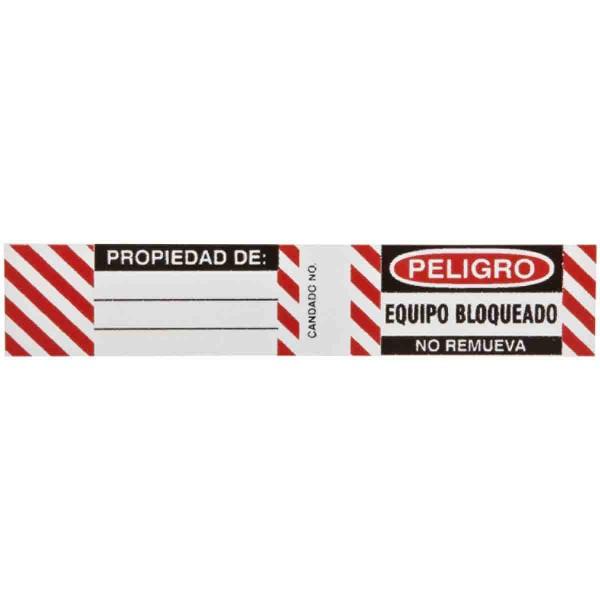 BRADY Etiketten für Stahlvorhängeschlösser B826/B674 LOCKOUT LABELS 6 SETS / PK 50281