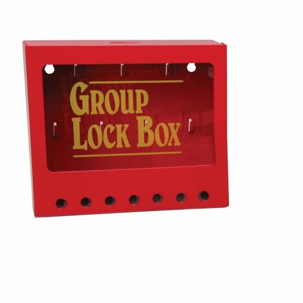 BRADY Metall-Gruppenverschlusskasten zur Wandmontage METAL WALL GROUP LOCK BOX, RED, SMALL 105714