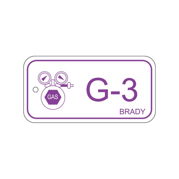 BRADY Anhänger für Energiequellen–Gas ENERGY TAG-G-3-75X38MM-PP/25 138420