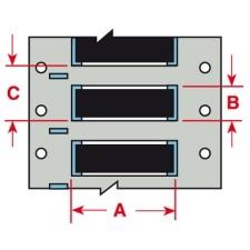 BRADY PermaSleeve Schrumpfschläuche aus Polyolefin für die Drucker BBP33/i33 B33D-500-2-342BK 142925