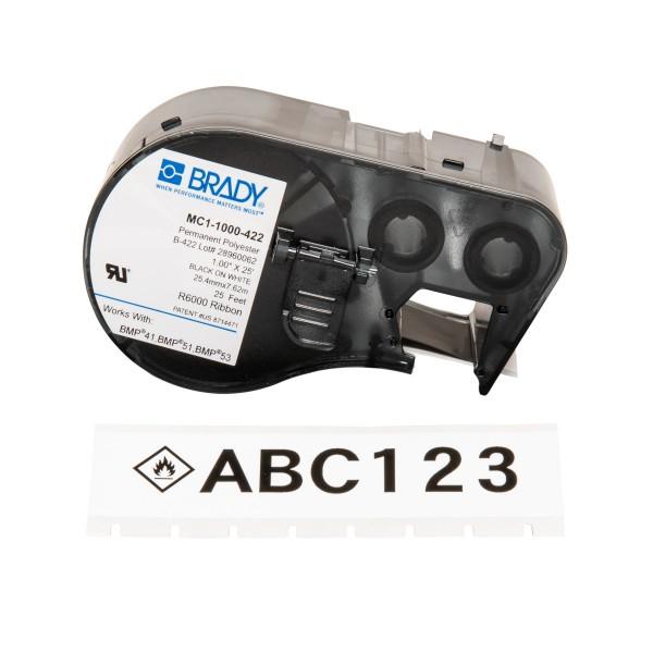 BRADY Etiketten für BMP41/BMP51/BMP53 Etikettendrucker MC1-1000-422 131595