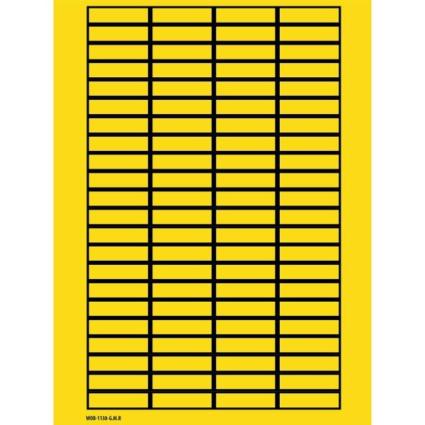 BRADY Beschriftbare Etiketten auf Bögen - 11 x 38 mm - B-500 WOB-1138-G.M.R 101808