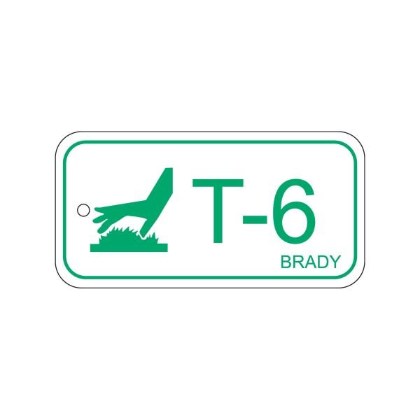 BRADY Anhänger für Energiequellen–Hohe Temperaturen ENERGY TAG-T-6-75X38MM-PP/25 138782
