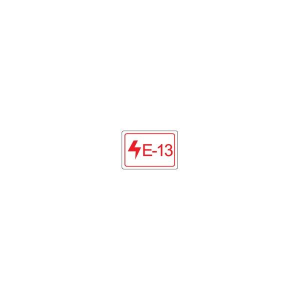 BRADY Etikett für Energiequellen–Elektrik ENERGY TAG-E-13-19X13MM-SA/100 138811