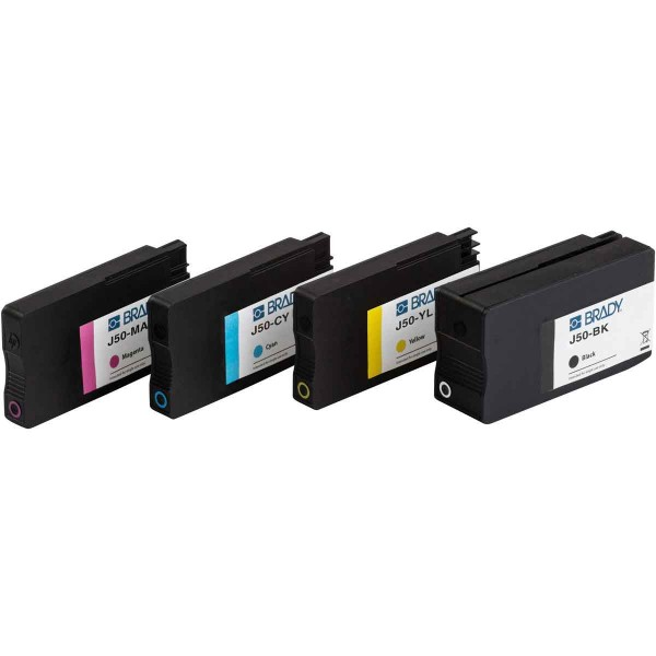 BRADY Tintenpatrone für den BradyJet J5000-Drucker auf Pigmentbasis - Multip J50-CMYK 148765