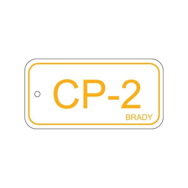 BRADY Anhänger für Energiequellen–Bedienfeld ENERGY TAG-CP-2-75X38MM-SAPP/25 138397