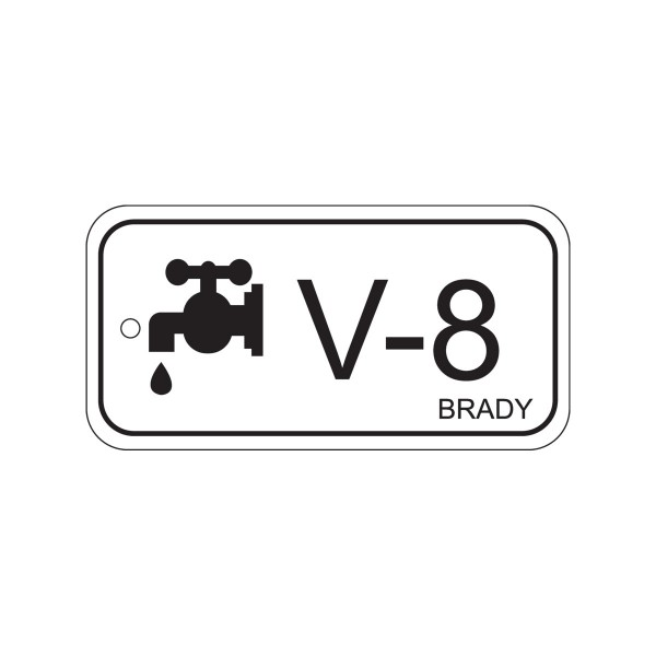 BRADY Anhänger für Energiequellen–Ventil ENERGY TAG-V-8-75X38MM-PP/25 138789
