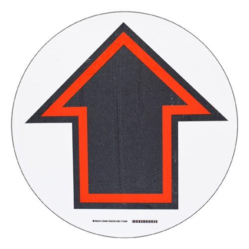 BRADY ToughStripe - Vorgedruckte Bodenmarkierung RD/BK/WT ARROW SYMBOL 431,8 MM DIA 104489