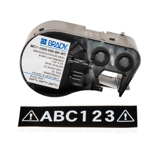 BRADY Band für BMP41/BMP51/BMP53 Etikettendrucker MC1-1000-595-BK-WT 131606