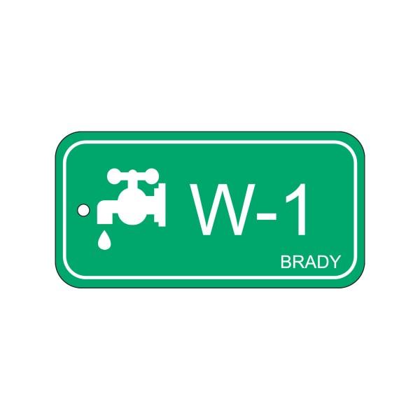 BRADY Anhänger für Energiequellen–Wasser ENERGY TAG-W-1-75X38MM-PP/25 138413