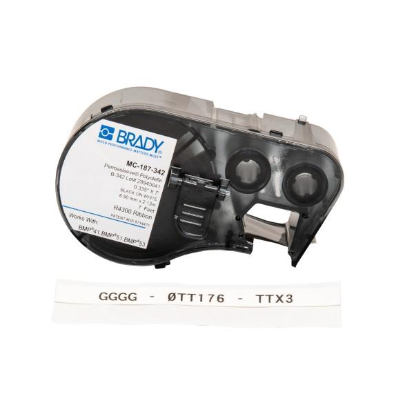 BRADY PermaSleeve Schrumpfschläuche zur Kabelkennzeichnung für BMP41/BMP51/B MC-187-342 143222