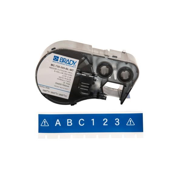 BRADY Band für BMP41/BMP51/BMP53 Etikettendrucker MC-750-595-BL-WT 143388