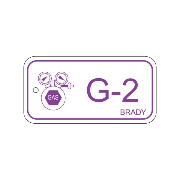 BRADY Anhänger für Energiequellen–Gas ENERGY TAG-G-2-75X38MM-PP/25 138419