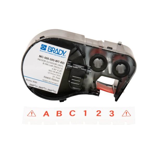 BRADY Band für BMP41/BMP51/BMP53 Etikettendrucker MC-500-595-WT-RD 143379