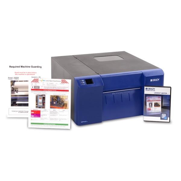 "BRADY BradyJetJ5000Farbetikettendrucker UK–mit Workstation-App ""Lockout J5000-BWS-LOW-UK 197202"