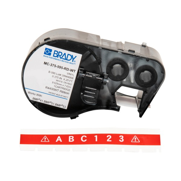 BRADY Band für BMP41/BMP51/BMP53 Etikettendrucker MC-375-595-RD-WT 150588