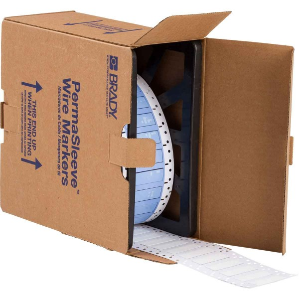 BRADY PermaSleeve Schrumpfschläuche zur Kabelkennzeichnung PS-375-2-WT-4 104774