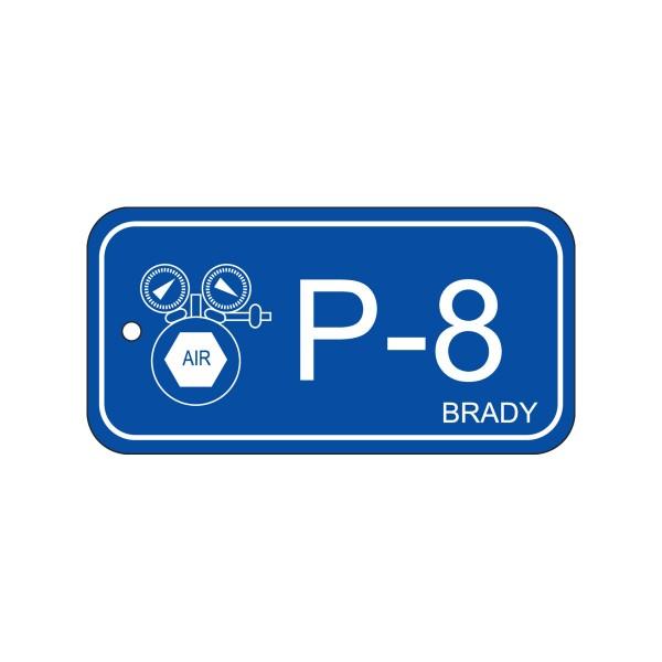 BRADY Anhänger für Energiequellen–Pneumatik ENERGY TAG-P-8-75X38MM-PP/25 138741
