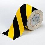 BRADY Bodenmarkierung - 101,6mm Schwarze und Gelbe Toughstripe Polyester BLK./YLW FLOOR TAPE 101,6 X