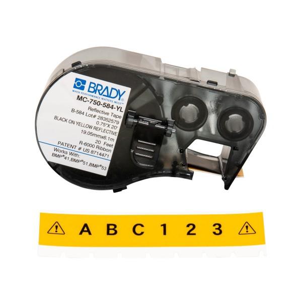BRADY Etiketten für BMP41/BMP51/BMP53 Etikettendrucker MC-750-584-YL 143408