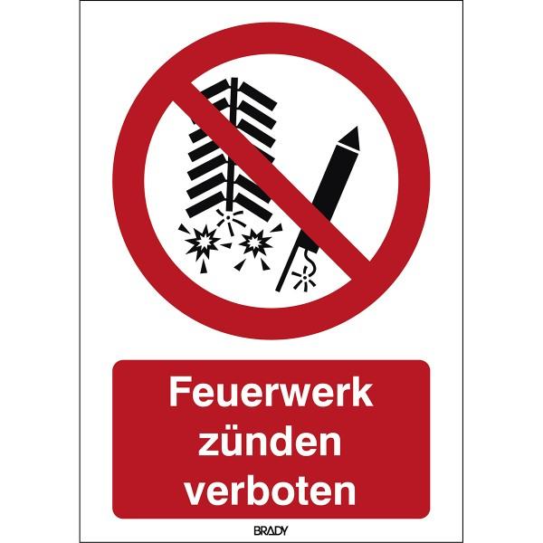 BRADY ISO-Sicherheitsschild–Feuerwerk verboten P/P040/DE101/PE-148X210-1 196845