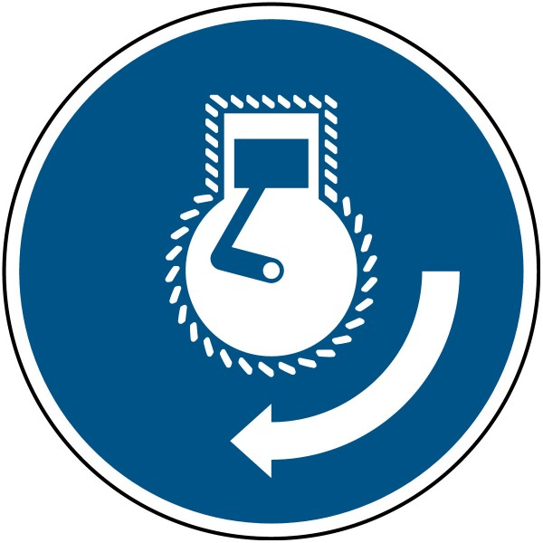 BRADY Motor starten bei Aussetzvorgang–ISO 7010 M/M038/NT-SA-DIA100/1-B 135524