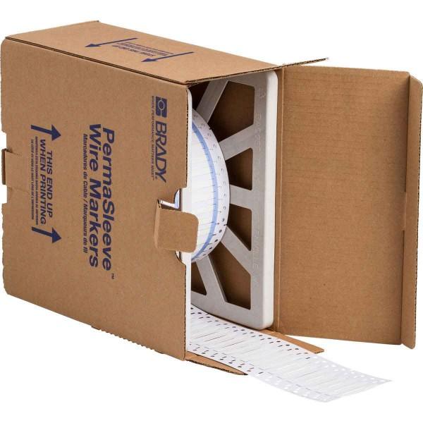 BRADY PermaSleeve Schrumpfschläuche zur Kabelkennzeichnung 3PS-125-2-WT-4 104713