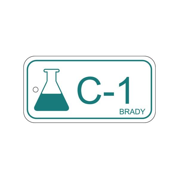 BRADY Anhänger für Energiequellen–Chemie ENERGY TAG-C-1-75X38MM-PP/25 138428