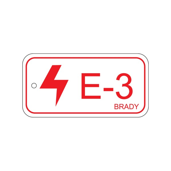 BRADY Anhänger für Energiequellen–Elektrik ENERGY TAG-E-3-75X38MM-SAPP/25 138402