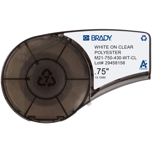 BRADY Polyester-Band für BMP21-PLUS, BMP21-LAB, BMP21, IDPAL, LABPAL M21-750-430-WT-CL 139749