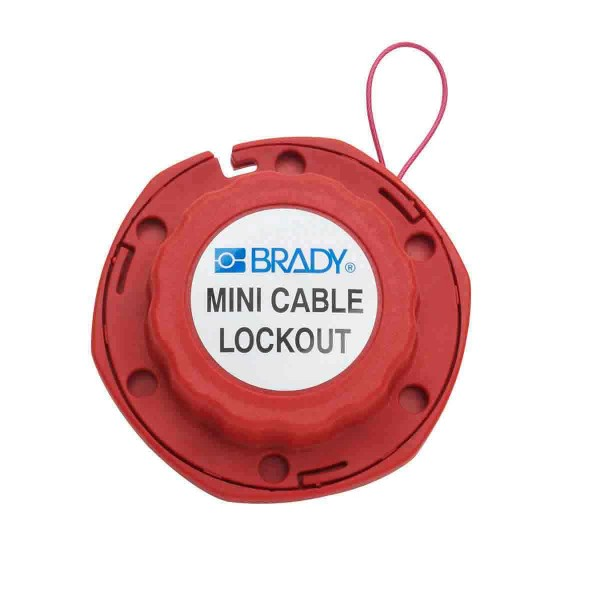 BRADY Mini - Kabelverriegelungssystem mit Stahlkabel MINI CABLE LOCKOUT WITH STEEL CABLE 2.4M 50940