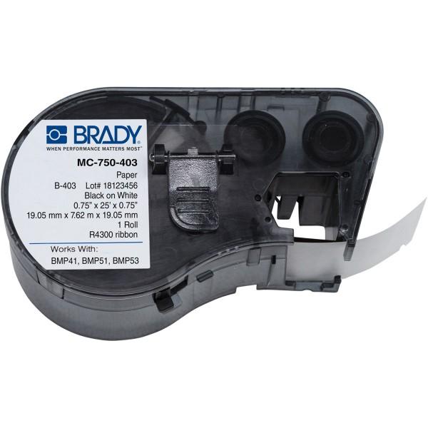 BRADY Wasserlösliches Papierband für die BMP41/BMP51/BMP53Etikettendrucker MC-750-403 149607