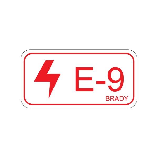 BRADY Etikett für Energiequellen–Elektrik Energy tag-E-9-75x38mm-SA/5 138470