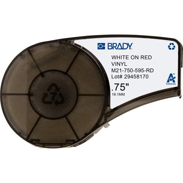 BRADY Vinylband für BMP21-PLUS, BMP21-LAB, BMP21, IDPAL, LABPAL M21-750-595-RD 142801