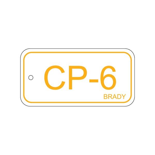 BRADY Anhänger für Energiequellen–Bedienfeld ENERGY TAG-CP-6-75X38MM-PP/25 138734
