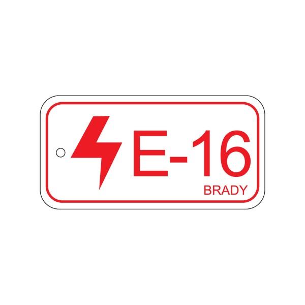 BRADY Anhänger für Energiequellen–Bedienfeld ENERGY TAG-E-16-75X38MM-PP/25 138834