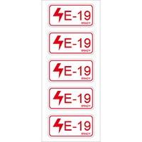 138827 - Etikett für Energiequellen–Elektrik