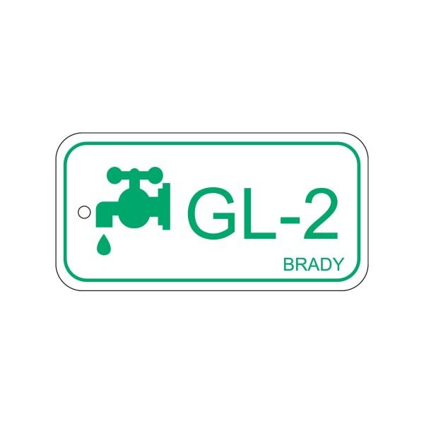 BRADY Anhänger für Energiequellen–Glykol ENERGY TAG-GL-2-75X38MM-PP/25 138445