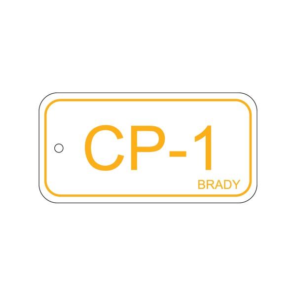 BRADY Anhänger für Energiequellen–Bedienfeld ENERGY TAG-CP-1-75X38MM-SAPP/25 138396
