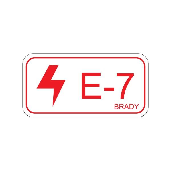 BRADY Etikett für Energiequellen–Elektrik ENERGY TAG-E-7-75X38MM-SA/5 138468