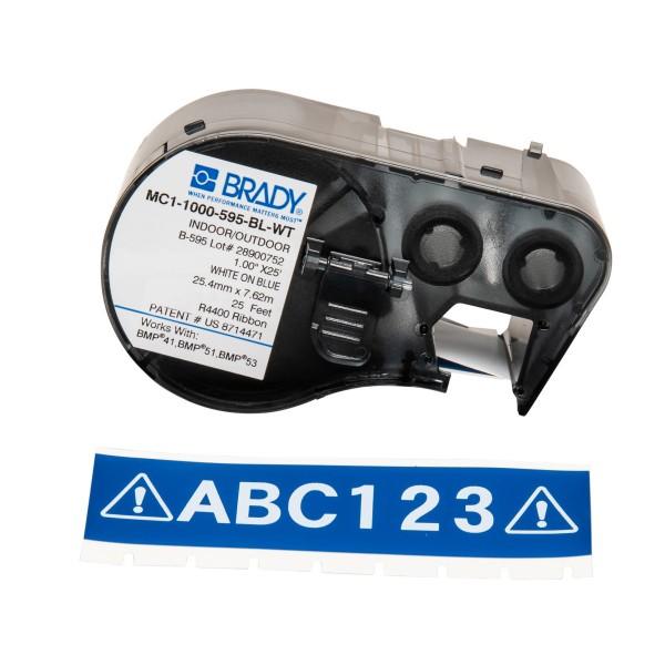 BRADY Band für BMP41/BMP51/BMP53 Etikettendrucker MC1-1000-595-BL-WT 131594