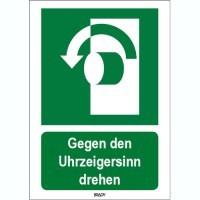 816436 - ISO 7010 Zeichen - Gegen den Uhrzeigersinn drehen