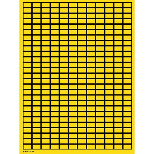 BRADY Beschriftbare Etiketten auf Bögen - 9 x 15 mm - B-500 WOB-915-G.O.R. 101804
