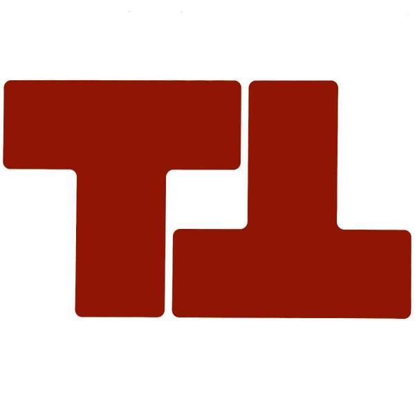 BRADY Eckemarkierung - Ts - 76,2mm x 203,2mm Rote Toughstripe Floor Marking RED B-514 FLOOR TS 76,2