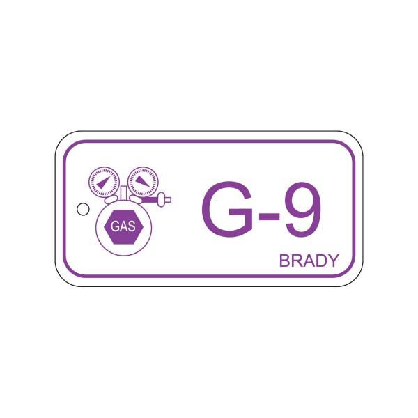 BRADY Anhänger für Energiequellen–Gas ENERGY TAG-G-9-75X38MM-PP/25 138759