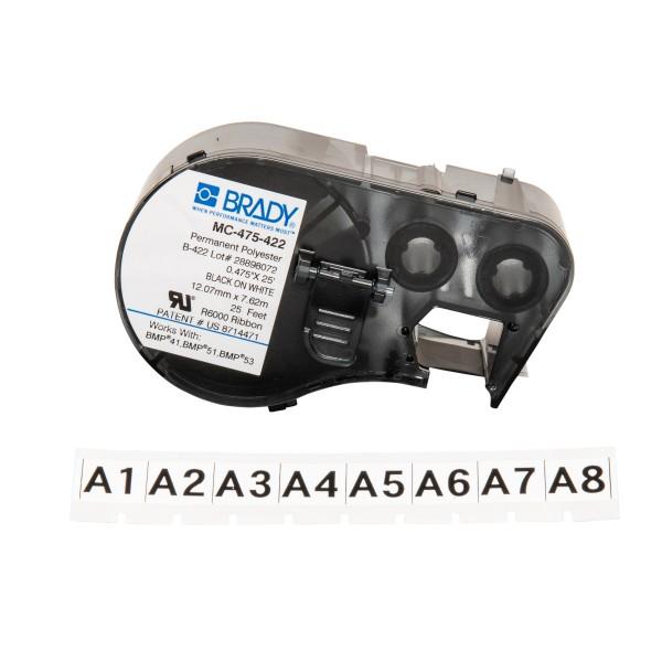 BRADY Etiketten für BMP41/BMP51/BMP53 Etikettendrucker MC-475-422 143240
