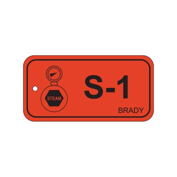 BRADY Anhänger für Energiequellen–Dampf ENERGY TAG-S-1-75X38MM-PP/25 138423