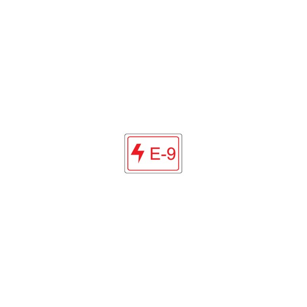BRADY Etikett für Energiequellen–Elektrik ENERGY TAG-E-9-19X13MM-SA/100 138460